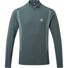 Mountain Equipment Ignis Longsleeve met halve rits Heren, moorland/goblin blue
